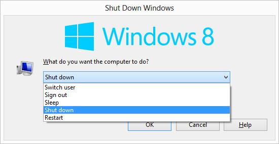 The Shut Down Windows Dialog