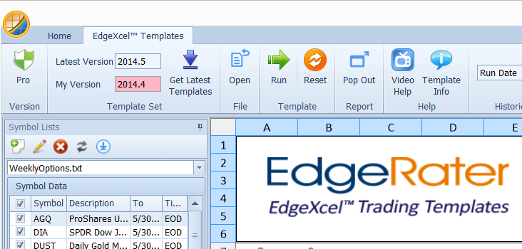 A new group of controls in the Templates menu bar